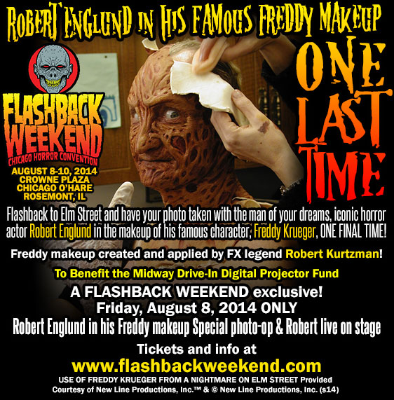 Robert Englund Appearing as Freddy Krueger!